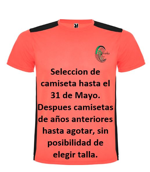 Camiseta con informacion